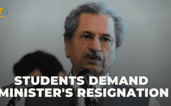 Students Demand Minister's Resignation