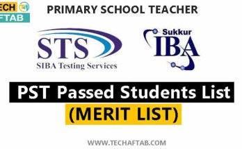 PST Selected Students 2021