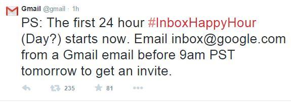 Gmail Inbox Invite