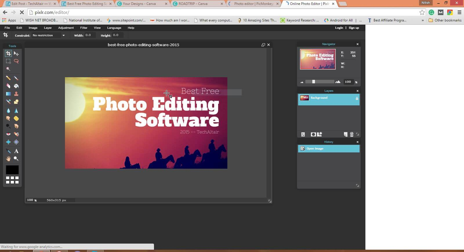 Best free photo editing software 2015 techaltair for Rendering online free