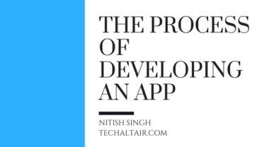 process of developing an app
