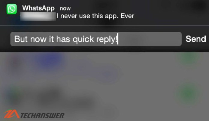 WhatsApp new update has quick reply feature for iOS