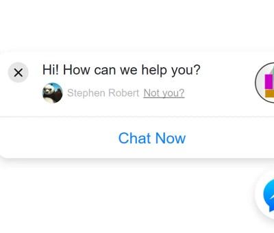 Facebook messenger bot for website
