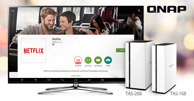 QNAP Supports Netflix Streaming On TAS-168 / 268 NAS