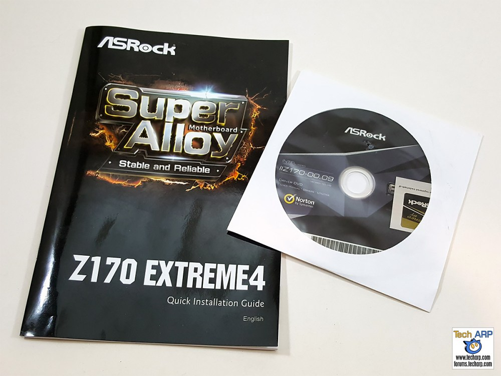 ASRock Z170 Extreme4 manual and CD