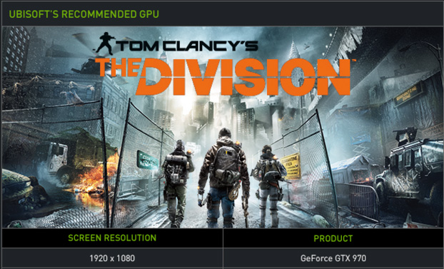 Tom Clancy's The Division GPU Recommendation