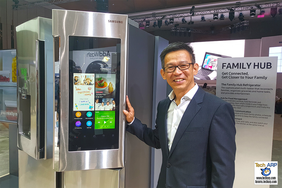 Samsung Family Hub Refrigerator Revealed