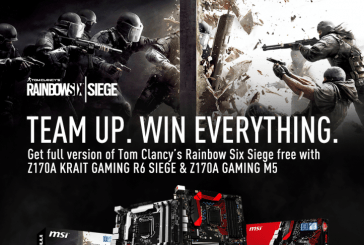 MSI Offers Free Rainbow Six Siege Bundles