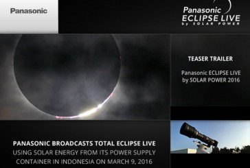 Panasonic Eclipse Live Broadcast By Solar Power