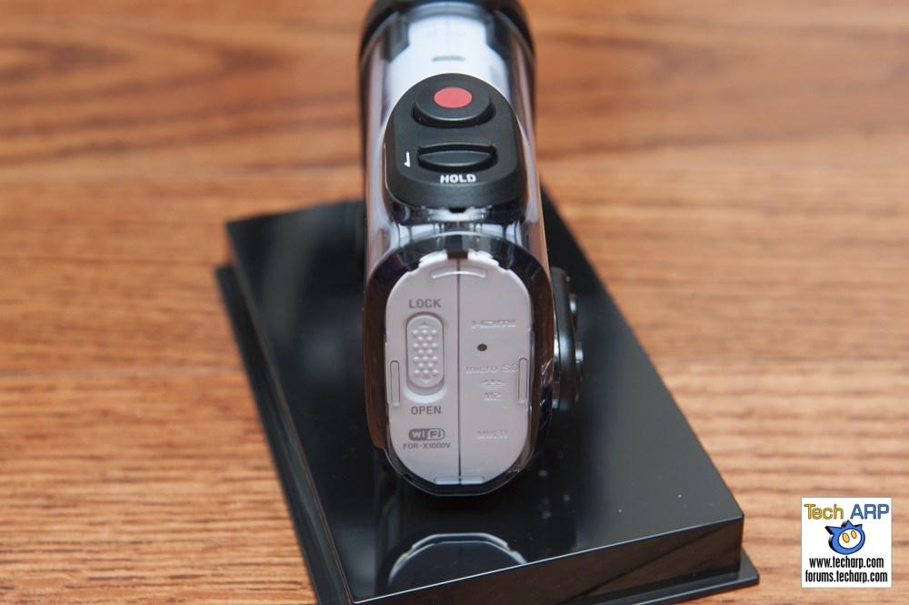Sony FDR-X1000V Action Camera Back Shot