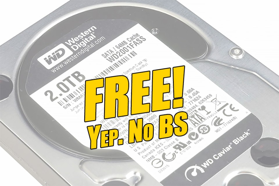 2TB WD Black HDD Giveaway Contest