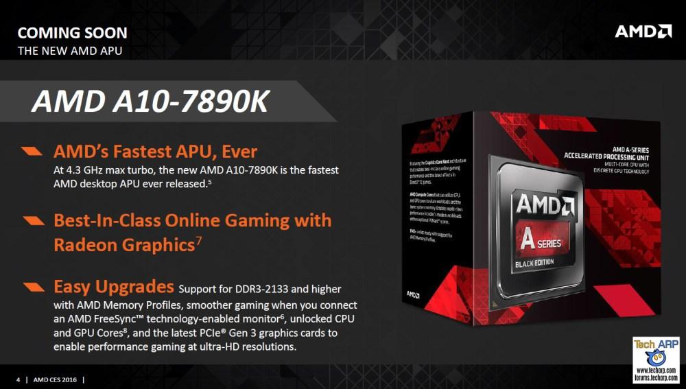 AMD A10-7890K APU & Athlon X4 880K CPU Launched