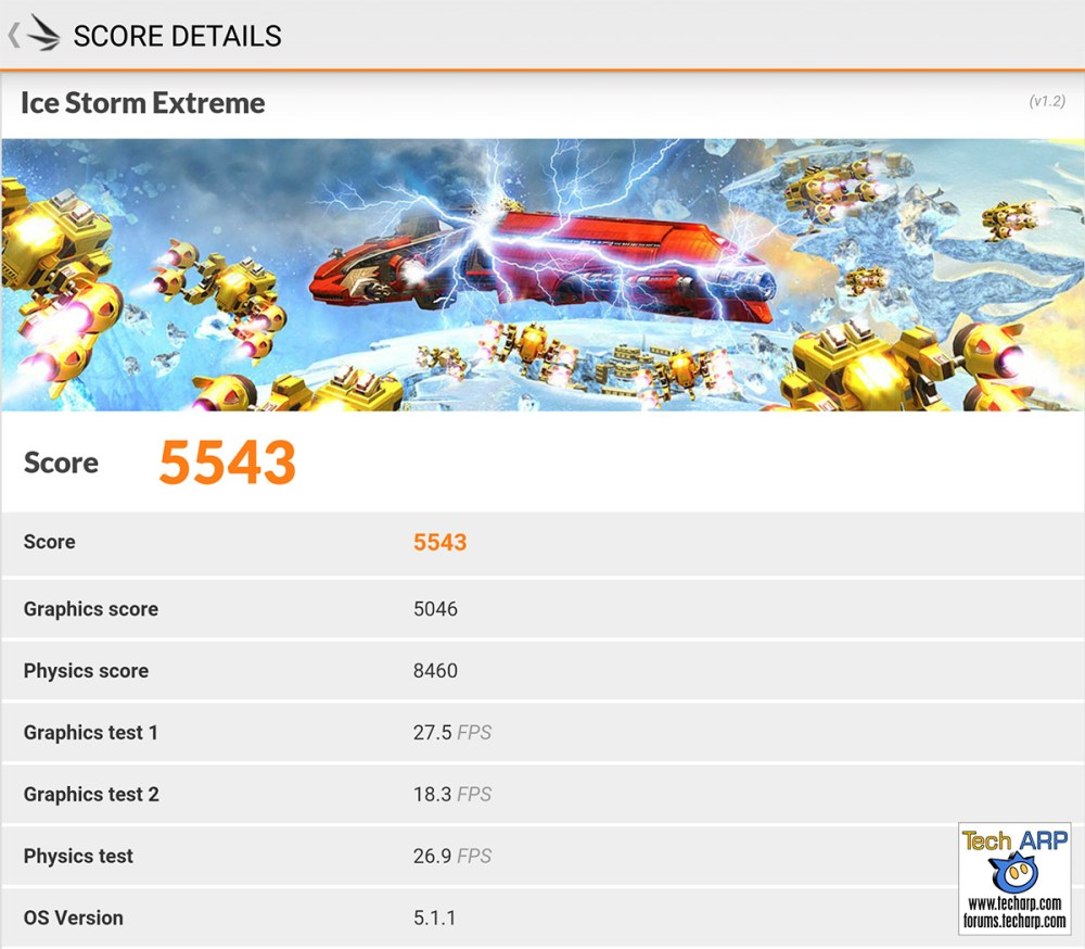 honor 5X 3DMark benchmark results