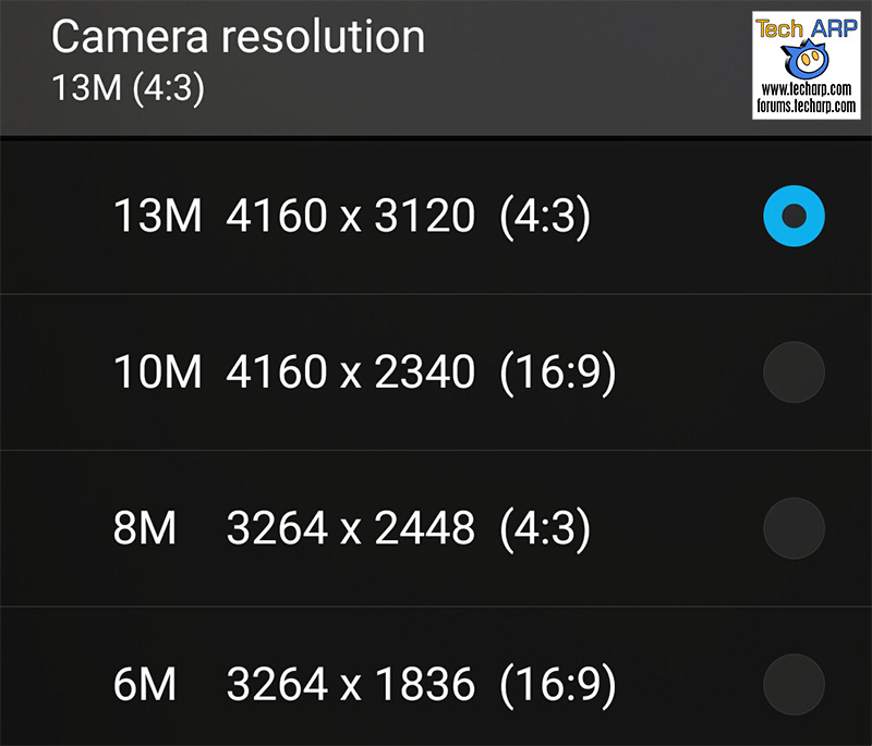 ASUS ZenFone Zoom (ZX551ML) camera options