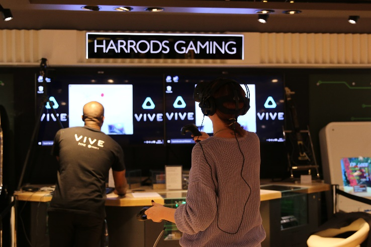 HTC Vive Demonstration & Pre-Order At Harrods