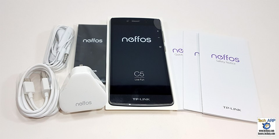TP-LINK Neffos C5 box contents