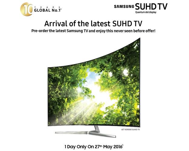 Samsung SUHD TV Pre-Order Promotion