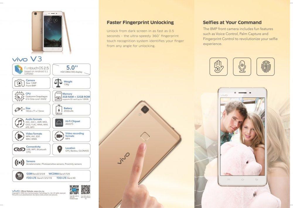 vivo V3 & V3 Max Rose Gold Smartphones Released