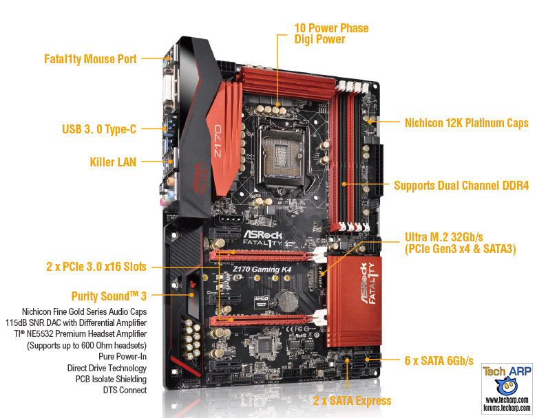 ASRock Fatal1ty Z170 Gaming K4 features