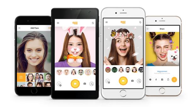 LINE Releases egg - a free Selfie App