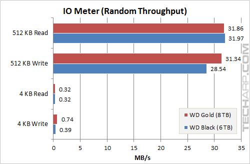 8TB Gold Random Throughput