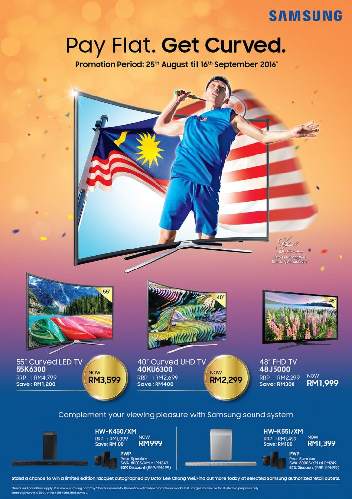 Samsung Curved TV Offer For Merdeka