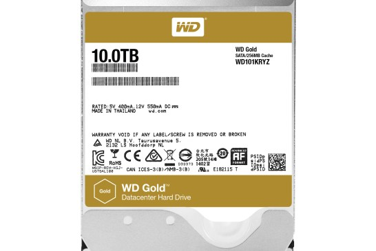 10TB WD Gold Increases Storage Capacity By 25%