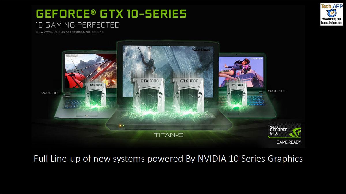 Aftershock GeForce GTX 10 gaming laptops