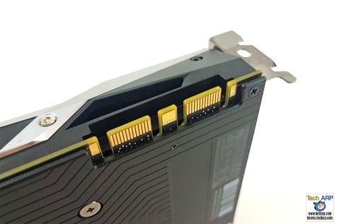 The NVIDIA GeForce GTX 1070 SLI connector