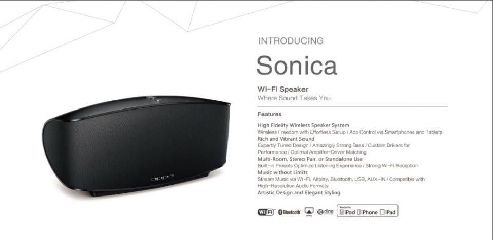 The OPPO Sonica Wi-Fi Speaker Revealed