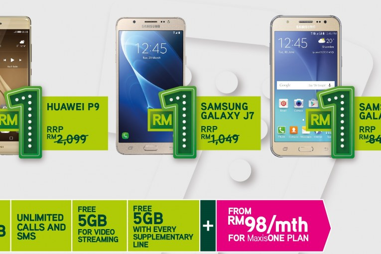 MaxisONE Deals – 4G Smartphones At Just RM1!