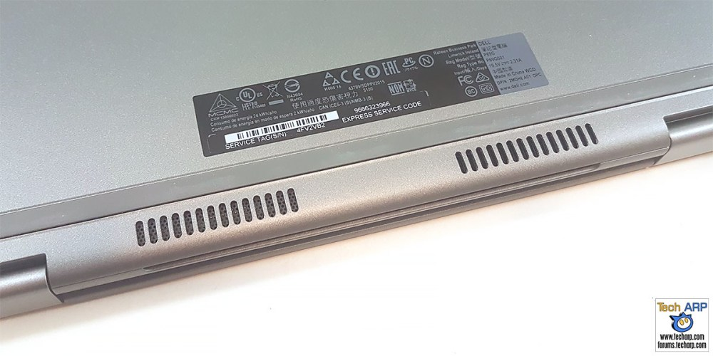 The Dell Inspiron 13 5000 (5368 / 5378) cooling vents