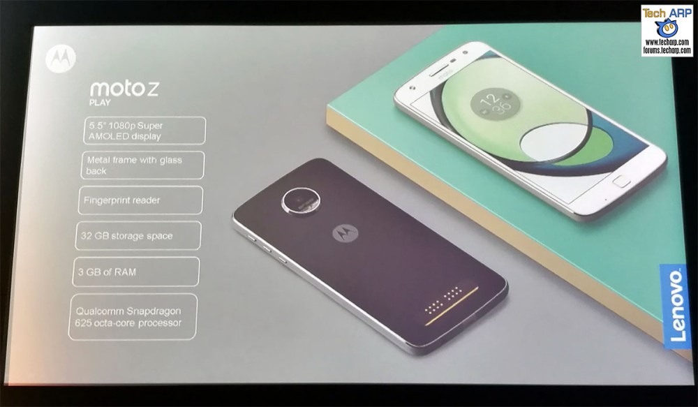 The Moto Z Play smartphone
