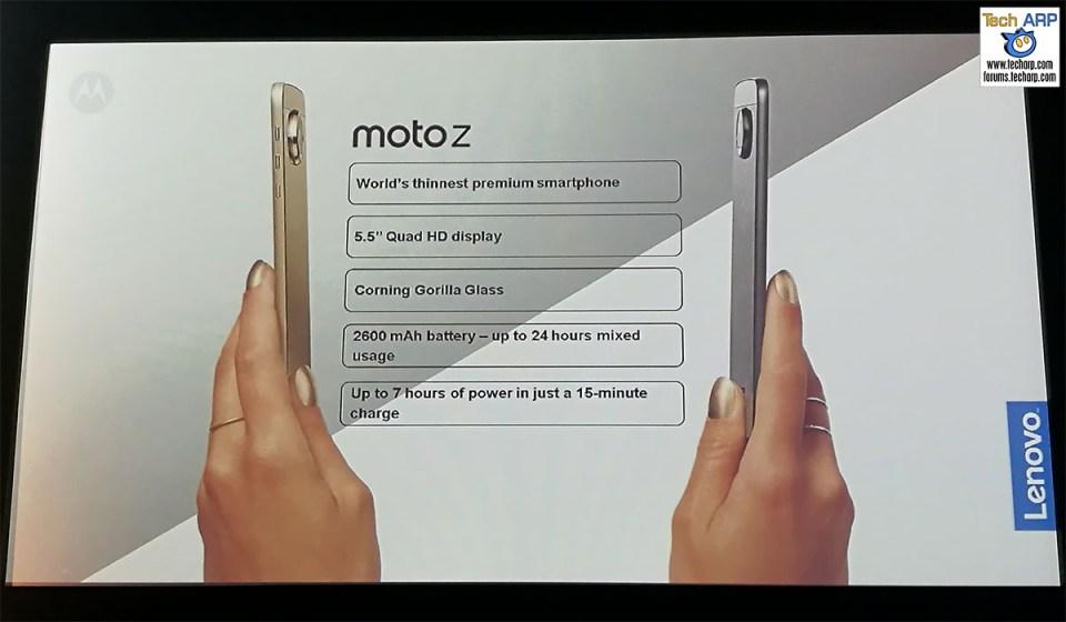 The Moto Z smartphoneThe Moto Z smartphone