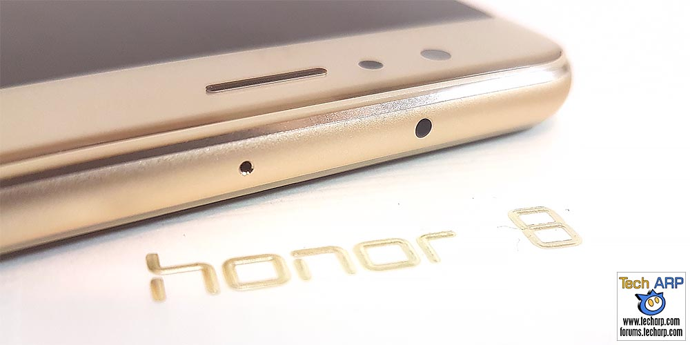 The honor 8 top view