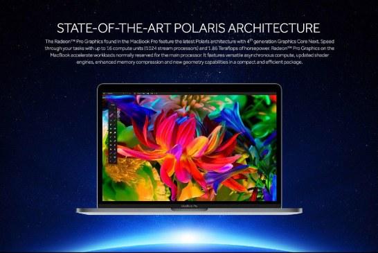 AMD Radeon Pro 400 Series Graphics MacBook Unveiled