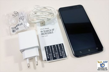 The ASUS ZenFone 3 (ZE552KL) box contents