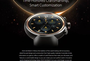 ASUS ZenWatch 3 Smartwatch Is Now Available For Sale!