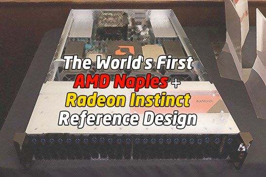 The First AMD Naples + Radeon Instinct Reference Design Revealed!
