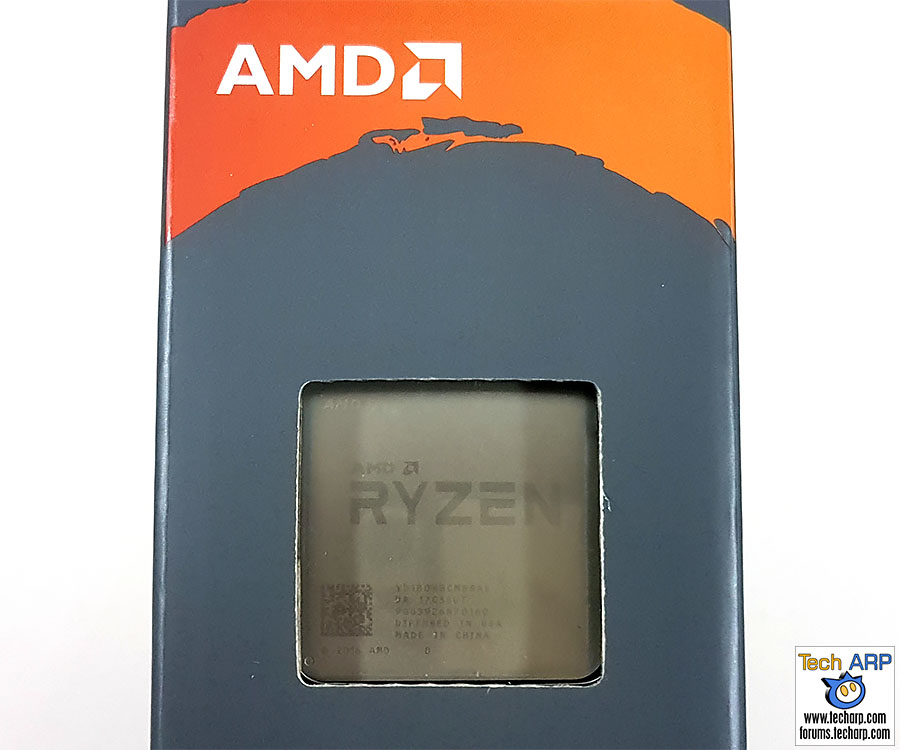 The AMD Ryzen 7 1800X box