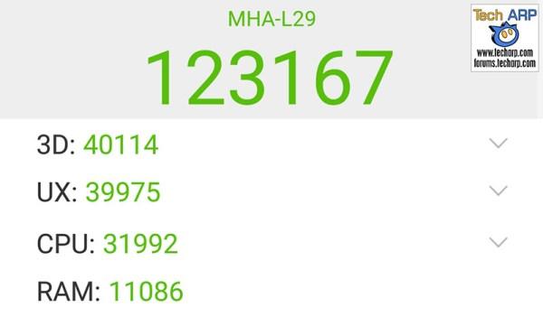 Huawei Mate 9 AnTuTu results
