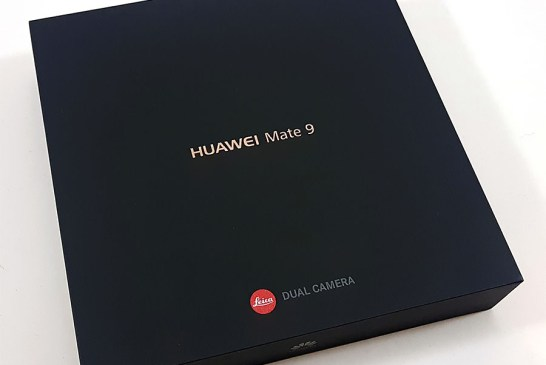 The Huawei Mate 9 box