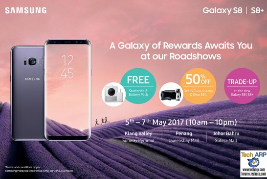 The Samsung Galaxy S8 Roadshow Offers Revealed!