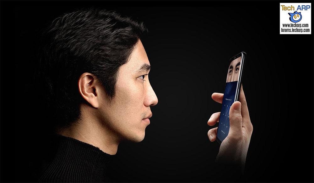The Samsung Galaxy S8 iris scanner