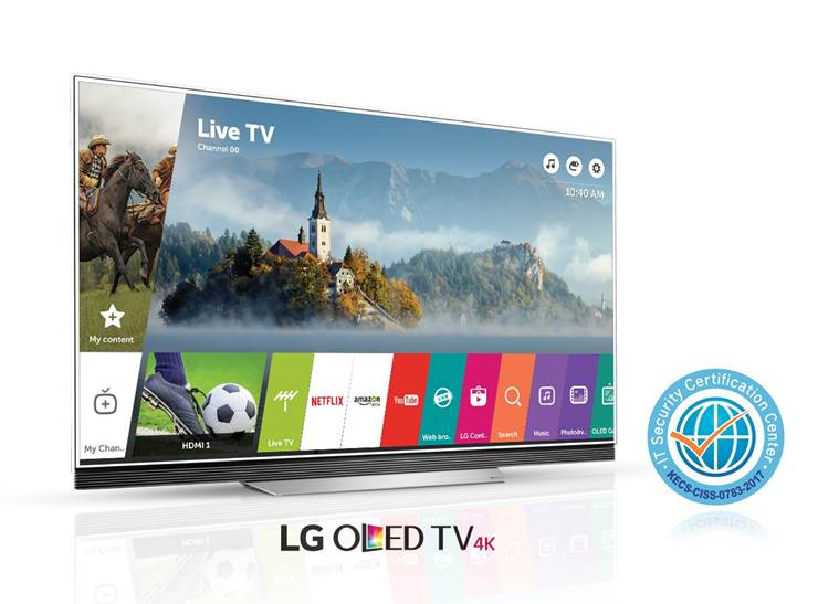 LG WEBOS 3.5 Smart TV Earns Common Criteria Certification