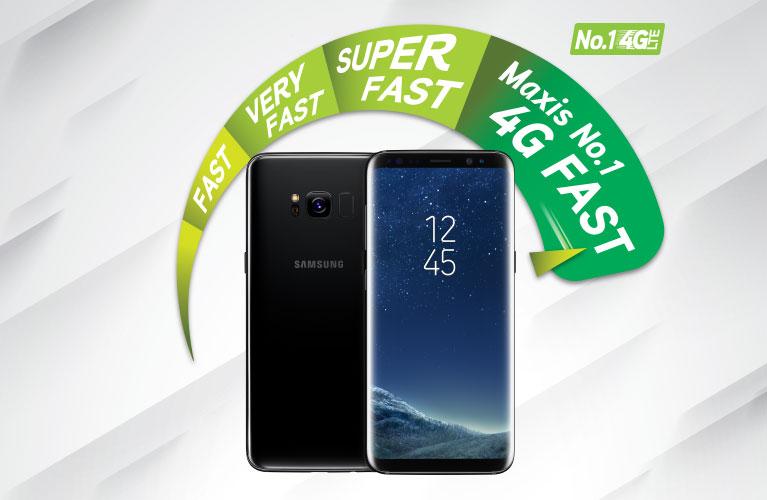 Maxis 4G-LTE Advanced On The Samsung Galaxy S8