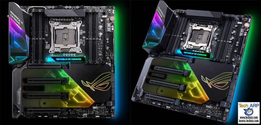 The ROG Rampage VI Extreme X299 motherboard