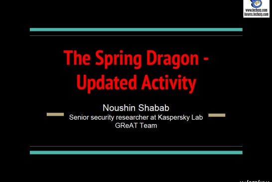 Tracking The Spring Dragon Advanced Persistent Threat