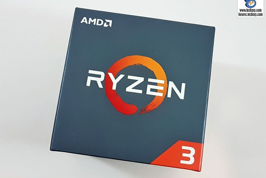 The AMD Ryzen 3 1300X box