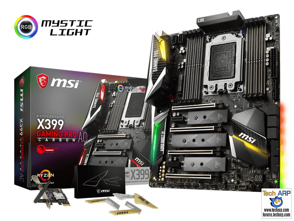 The First AMD X399 Motherboards - MSI X399 Gaming Pro Carbon AC